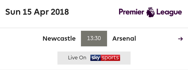 Newcastle United Vs Arsenal (PL) - Matchday - Online ...