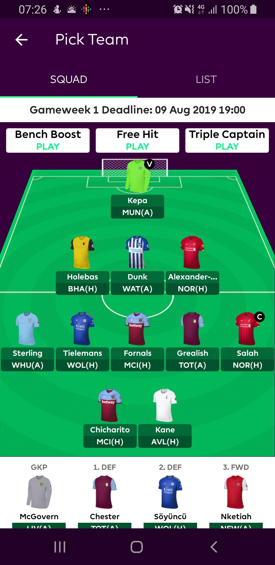 Fantasy Football 19/20 - Play On! - Online Arsenal Community