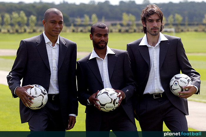 Gilberto-Silva-Ashley-Cole-Robert-Pires-FA-Cup-final-suits-2003